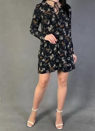 Платье в цветочный принт mango
