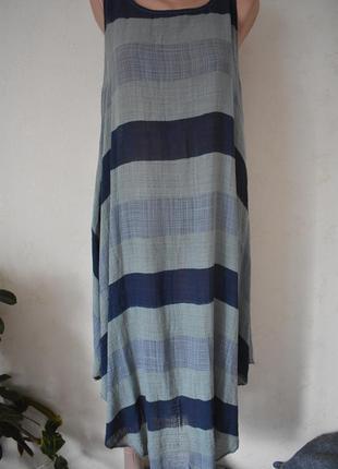 Легкое платье в полоску италия