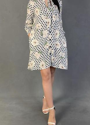 Платье в цветочный принт mango.