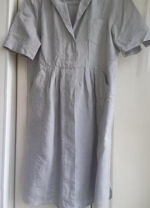 Платье рубашка лен