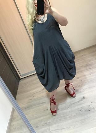 Итальянское стильное платье в полоску