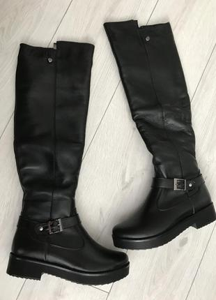 Ботфорты, сапоги, длинные сапоги, чёрные ботфорты зима, ботфор...