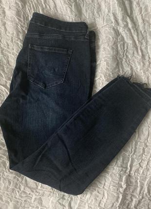 Тёмные джинсы рванки new look skinny 16
