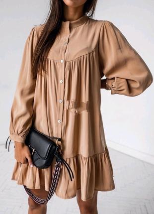 Платье с длинным рукавом свободного кроя