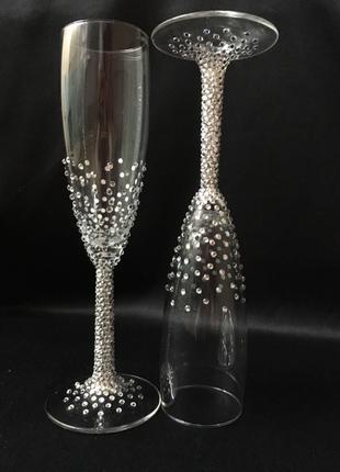 Свадебный набор бокалы для шампанского