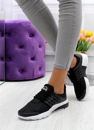 Модные кроссовки черного цвета текстиль