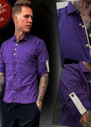 Рубашка из стрейч-коттона есть 4 размера