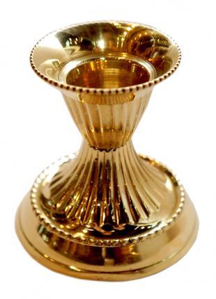 Подсвечник на 1 свечу желтый метал из Латуни