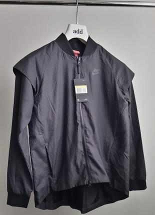Новая ветровка трансформер (куртка/жилет) nike чёрная эффект п...