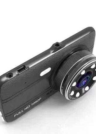 Автомобильный видеорегистратор +камера заднего хода T657 1080 FUL