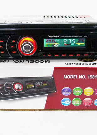 Автомагнитола С Пультом 1DIN MP3-1581BT RGB/Bluetooth Съемная пан