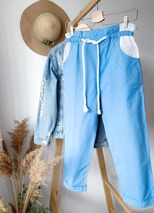 Голубі штани mom