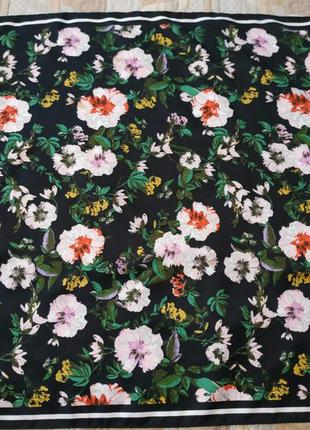 Косынка / платок шейный в цветочный принт