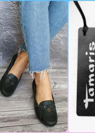 39р кожа новые tamaris германия кожаные туфли, лоферы, мокасины