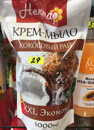 """Жидкое крем-мыло """"Нектар. Кокосовый рай"""" 1 литр"""
