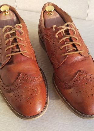 Чоловічі шкіряні туфлі / Кожаные мужские туфли / Броги / Brogue