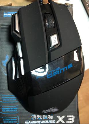 Игровая мышка с 3мя доп кнопками