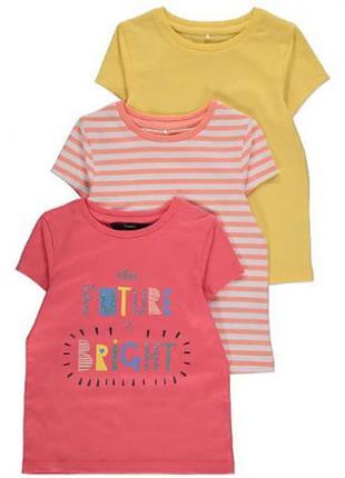 Набор футболок для девочки george