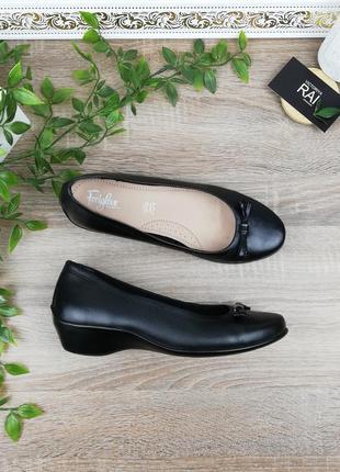 🌿38🌿европа🇪🇺 footglove. кожа. комфортные туфли на легкой платф...
