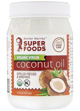 Dr. Murray's, Органическое кокосовое масло первого отжима 473л