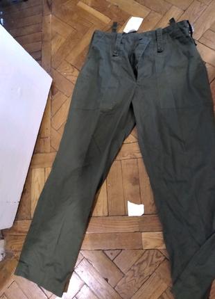 Штаны брюки Англия камуфляж олива тактические зелёные армейские