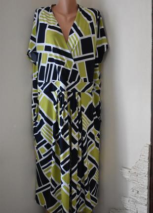 Красивое платье с принтом очень большого размера
