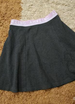 Фирменная юбка h&m на 10-12 лет (можно дольше)