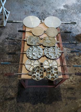 Вафельниця , форма для випічки вафель алюмінієва