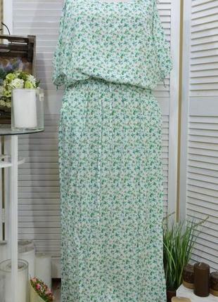 Модное платье-сарафан большого размера