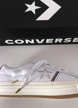 Кеди шкіряні ,білі Converse One Star Ox.Оригінал.
