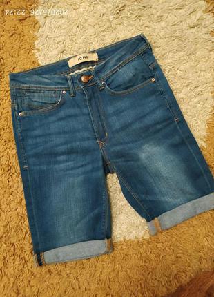 Фирменные джинсовые шорты ichi с высокой посадкой, на с-м или ...