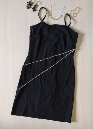 Платье с камнями сарафан облегающее