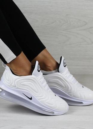 Крутые женские кроссовки nike air max 720 белые