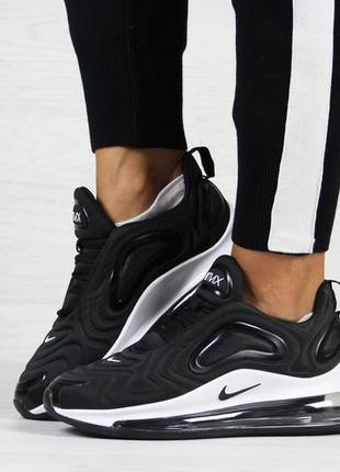 Крутые женские кроссовки nike air max 720 чёрные