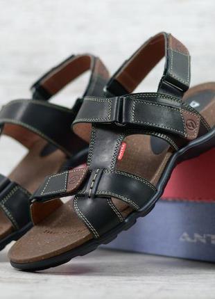 Повседневные мужские кожаные босоножки сандалии из натуральной...