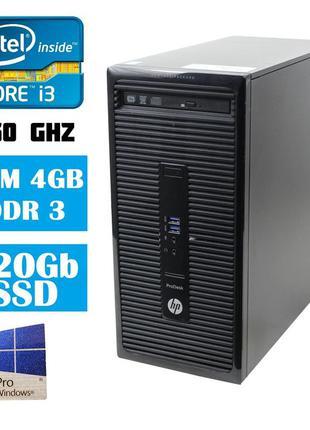Комп'ютер HP ProDesk 400 G2/Core i3-4150 3.50Ghz/RAM 4096/SSD ...
