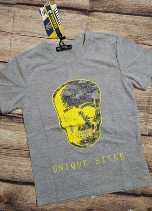 Тренд сезона футболки со стразами 122-152. для мальчиков