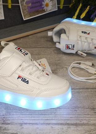 Очень крутые led -кроссовки с подзарядкой от usb