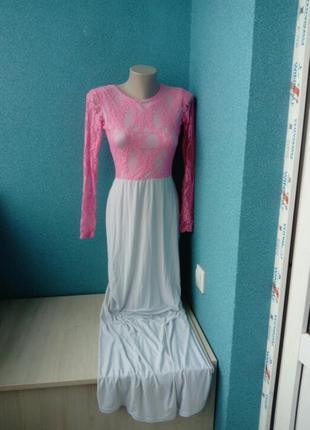 Мега крутое эффектное женское платье кружево