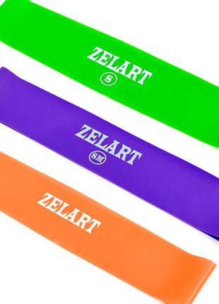 Фитнес-резинки набор 3 шт Zelart Super Loop, ленточный эспандер