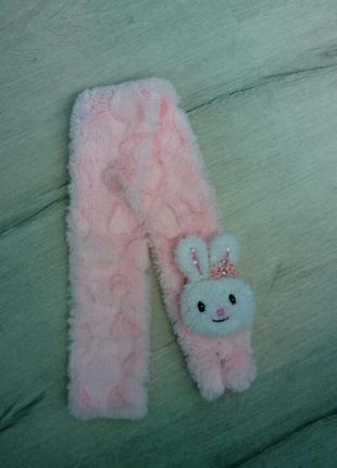 Тёплый детский шарф зайка