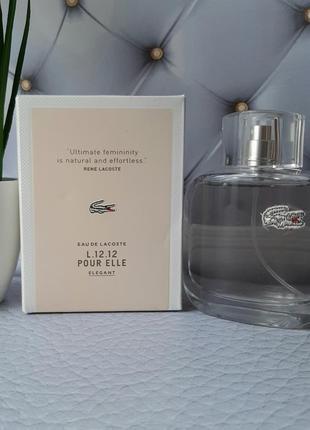 🌹оригинал 🌹90 мл lacoste eau de l.12.12 pour elle elegant цвет...
