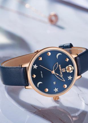 Оригинальные женские наручные часы Naviforce NF5009 Blue-Cuprum