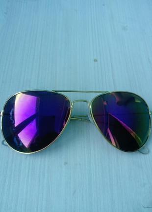 Стильные зеркальные женские очки авиатор ray ban