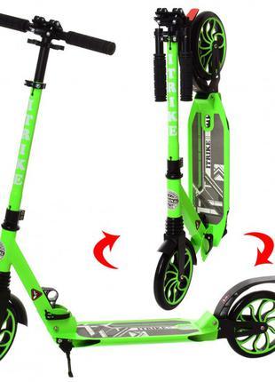 Самокат для подростков и взрослых iTrike SR 2 018 6 GR, зеленый
