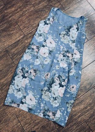 Очень красивое льняное летнее итальянское платье большого размера