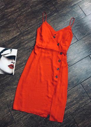 Красивое красное летнее платье большого размера/сарафан большо...
