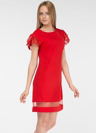 Стильное яркое женское платье кружево