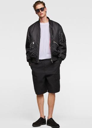 Куртка-бомбер с карманами ZARA