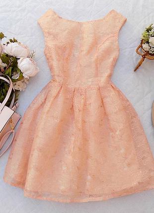 Платье вечернее фатин с вышивкой topshop размер 10